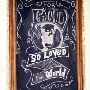 Chalk Board Art for Christmas