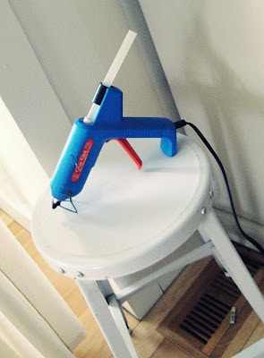hot glue gun used in crafting