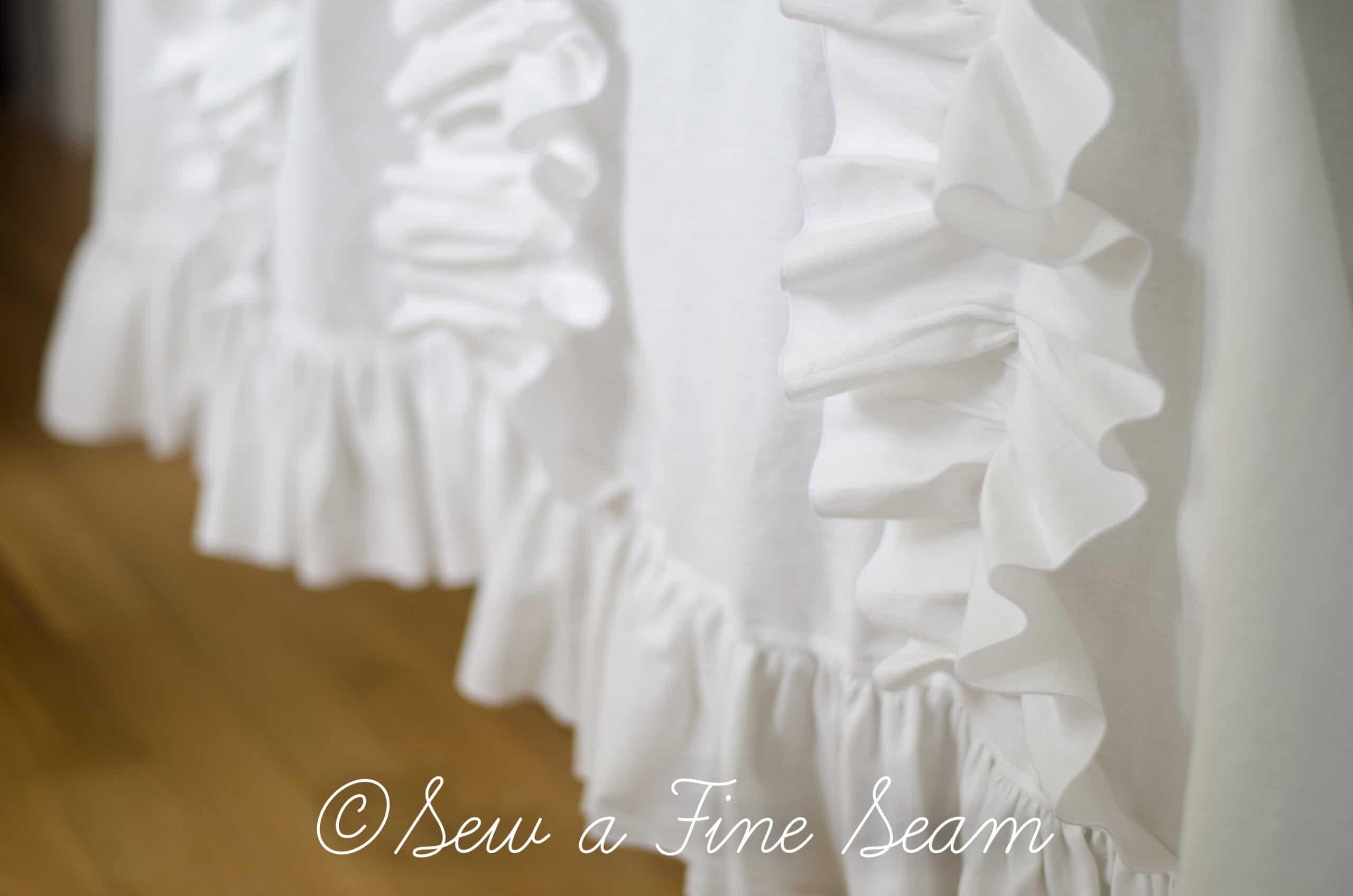 White Ruffled Curtains Sew A Fine Seam