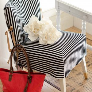 Black, White, and Gold Slip Covered Chair – Best of DIY