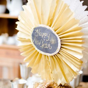 New Years Paper Crafts and Table Setting