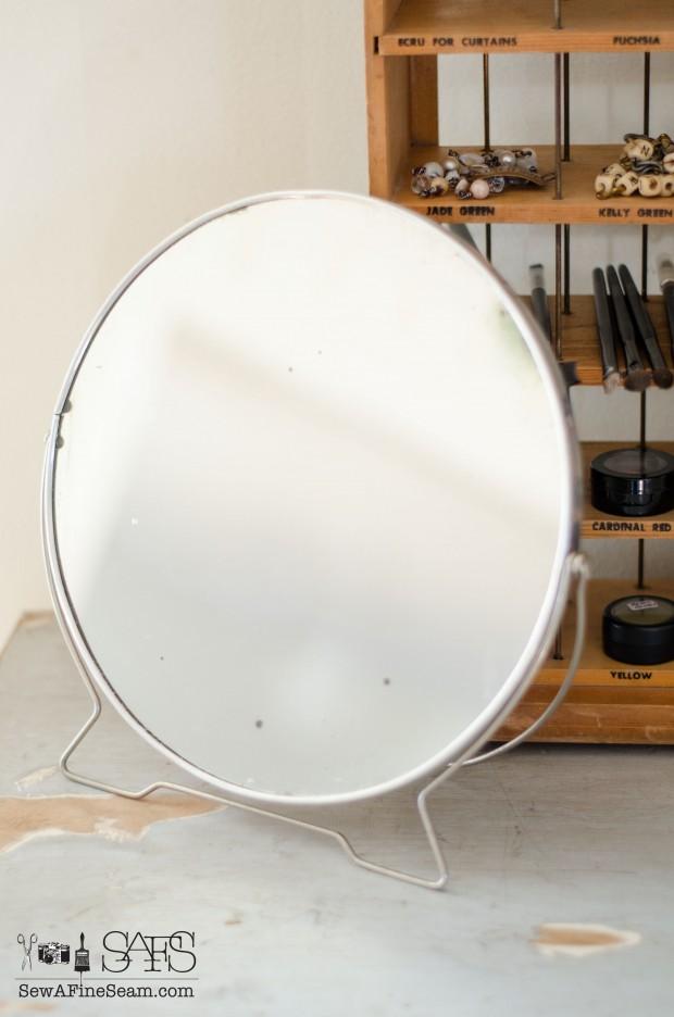 vintage stand mirror