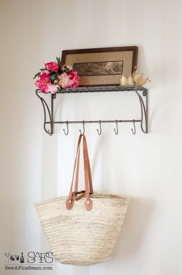 adding farmhouse charm with faux florals and a french basket