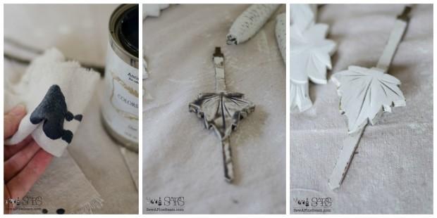 cuckoo clock makeover applying the glaze how-to