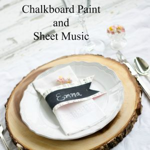 Chalkboard Paint and Sheet Music Name Cards