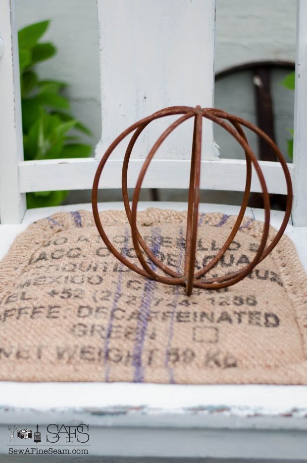 Burlap chair seat makeover burlap seat detail