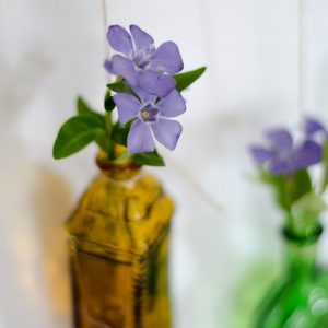 Flower Vase Made of Tiny Bottles