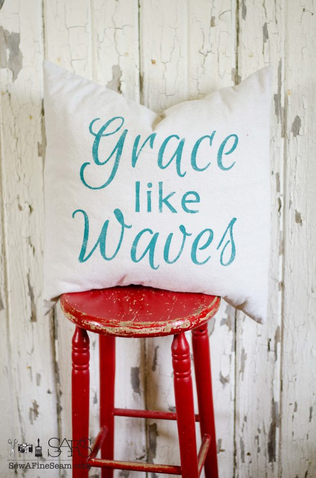 patriotic pillow grace like waves