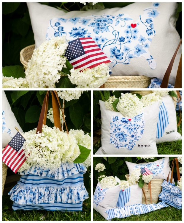 sweet tea fabric by thistlewood pillows and handbag