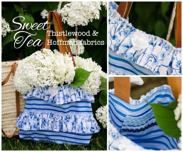 sweet tea fabric handbag stripes and floral