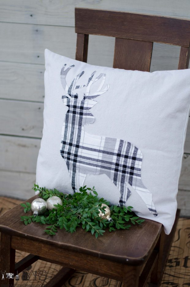 standing-deer-white-and-grey-plaid-christmas-pillows-2016
