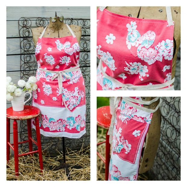 red-white-aqua-vintage-tablecloth-apron