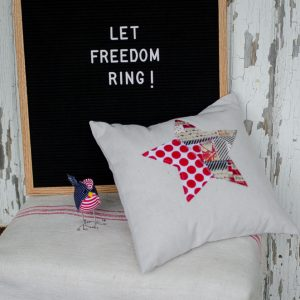 Patriotic Pillows in Fun Prints and Styles
