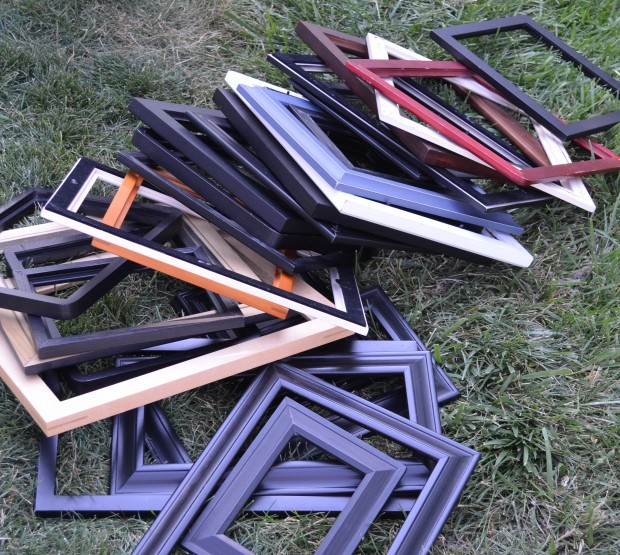 frames to be painted for stairway makeover