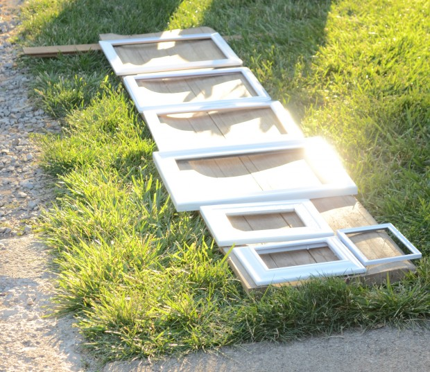 frames all painted white