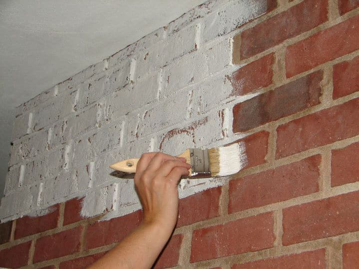 Annie Sloan Paint Gives Brick an Update
