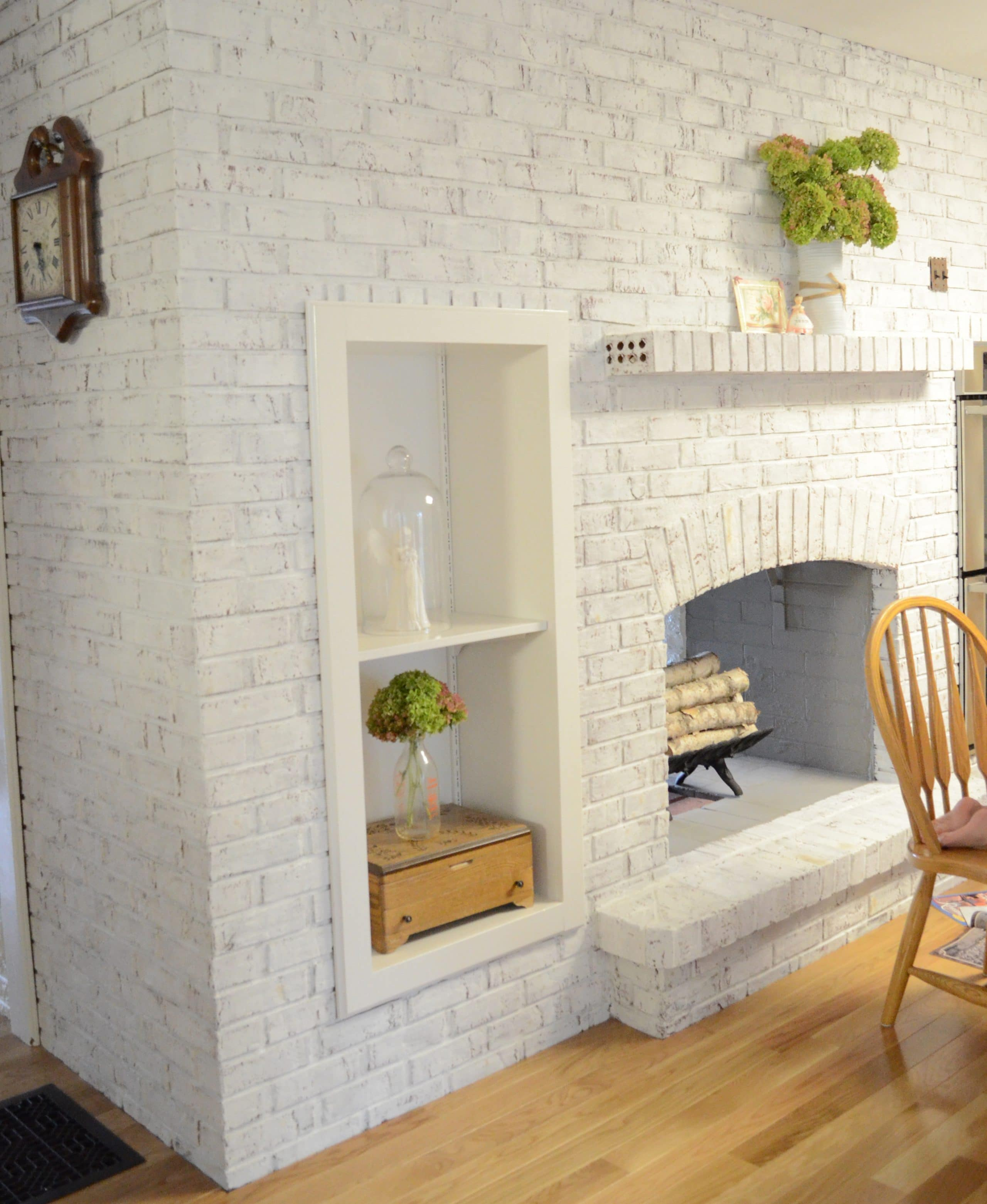 brick cement painted to ways cleaning black refresh fireplaces a fin fireplace front white