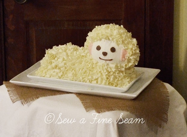 sheep cake for birthday