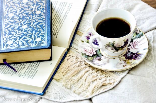 tea cup on footstool