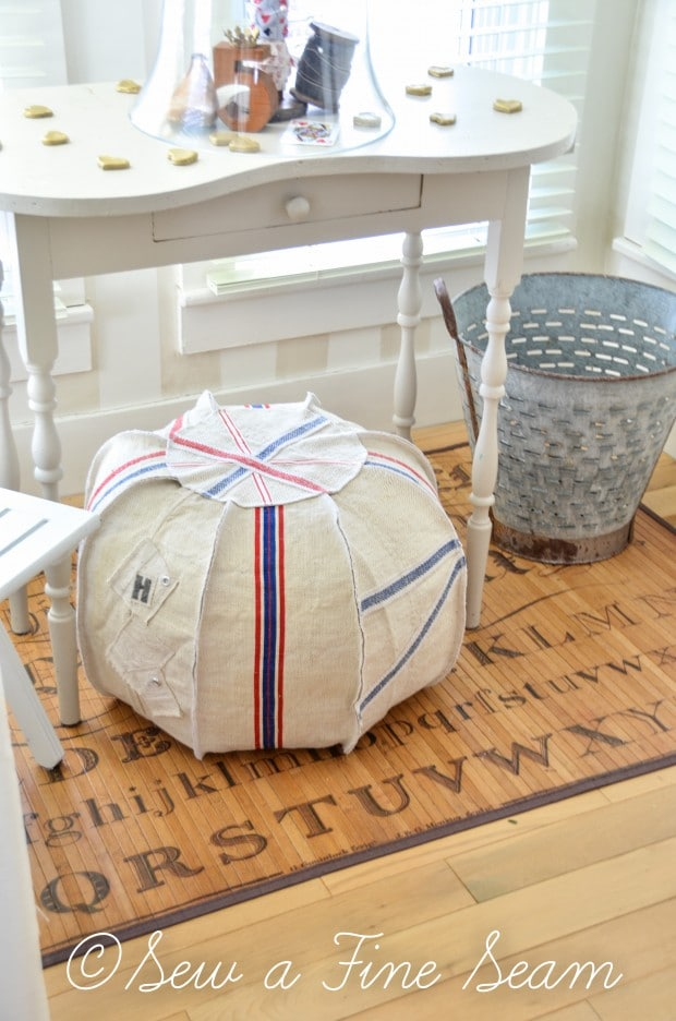 union jack pouffe - you can make your own