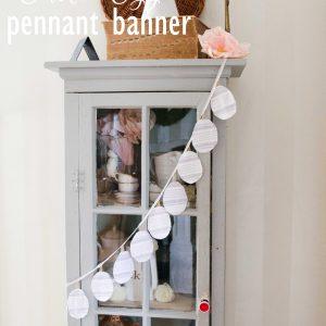 DIY Easter Egg Pennant Banner