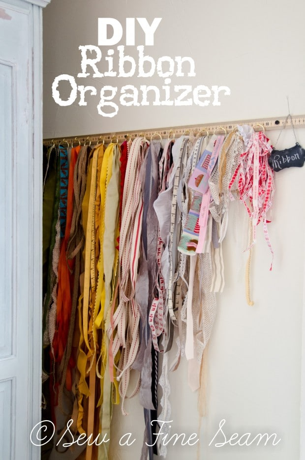 DIY ribbon organizer