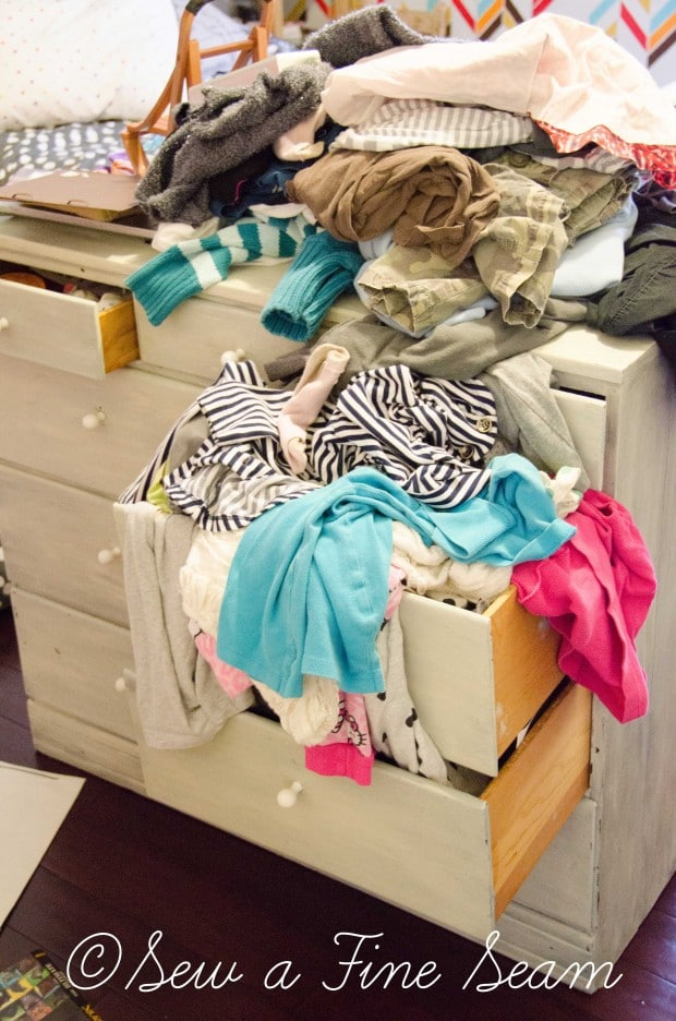closet makeover to clean up this mess