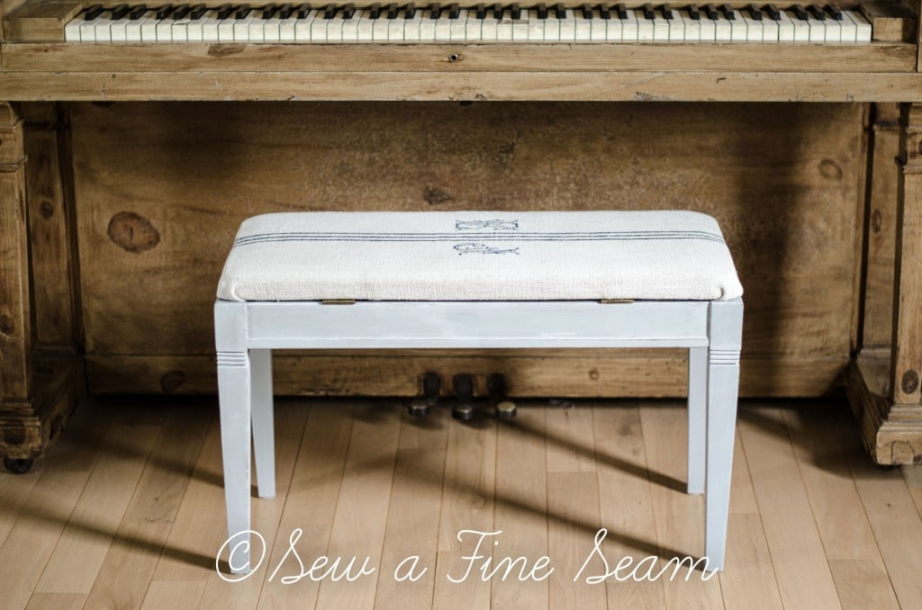 Piano Bench Makeover Sew A Fine Seam