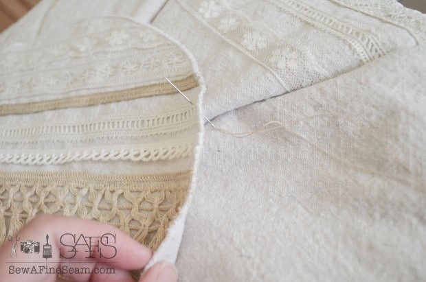 sew on by hand