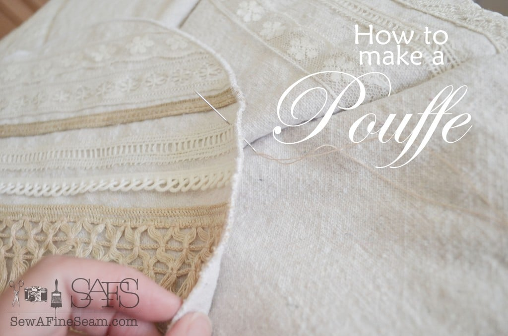 How to make a pouffe pouf