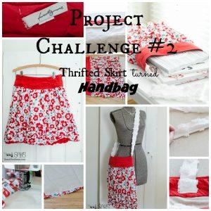 Project Challenge#2 Thrifted Skirt turned Handbag