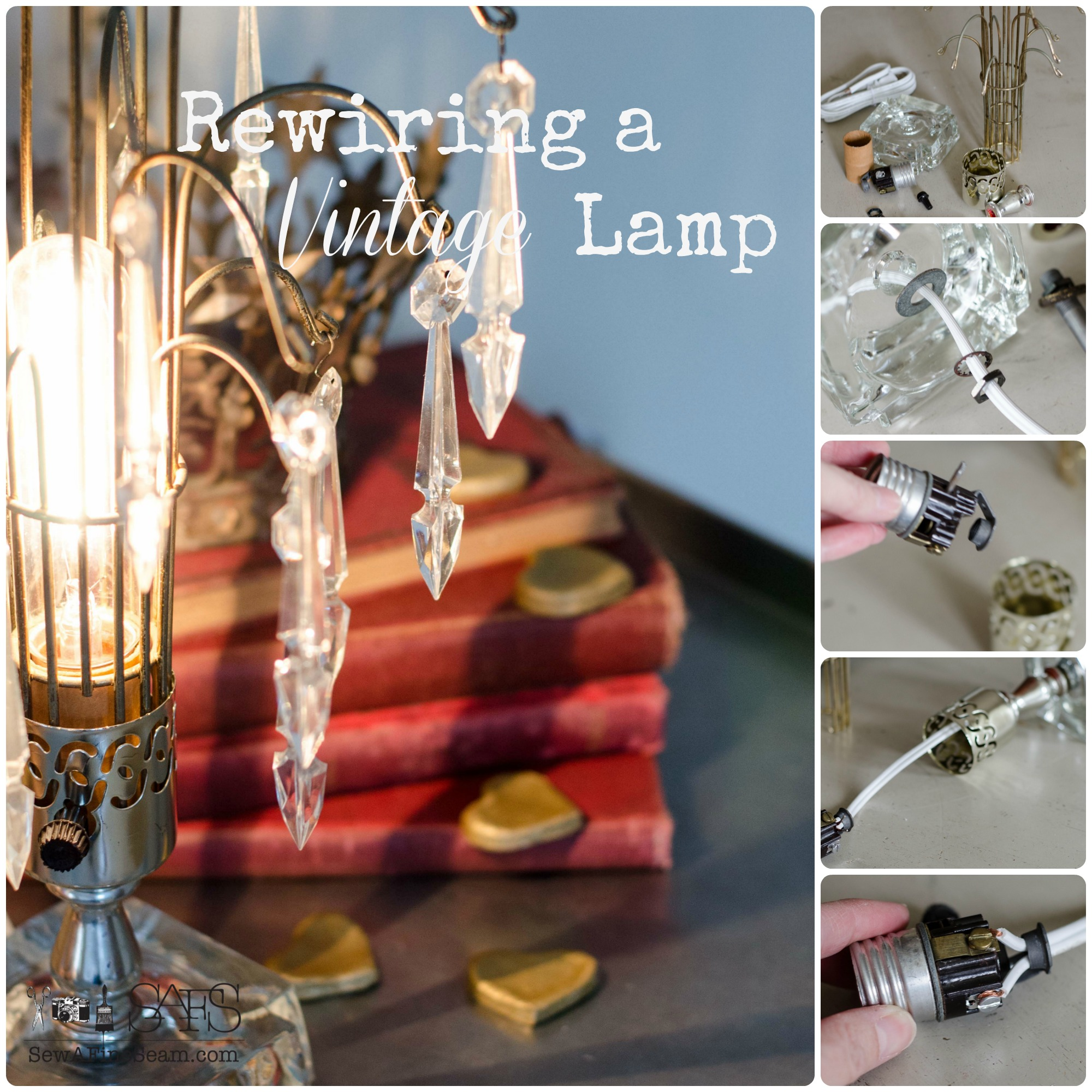 Rewiring a Vintage Lamp | Sew a Fine Seam on welding a lamp, rewiring lamp parts, rewire a lamp, design a lamp, rewiring lamp fixture, soldering a lamp, paint a lamp, wire a lamp, repair a lamp, rebuilding a lamp, rewiring radio, diy pipe lamp, polishing a lamp, lights a lamp, repainting a lamp, plastering a lamp,