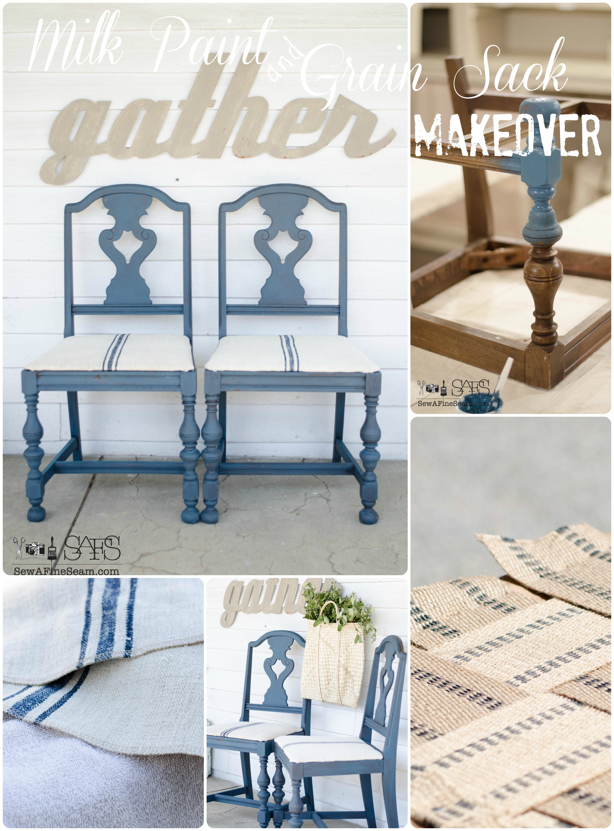 Milk Paint and Grain Sack Makeover – Project Challenge 4