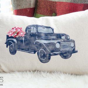 Vintage Truck Pillow + a Blog Hop