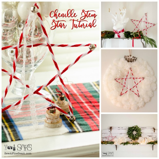 chenille stem start tutorial - great for some handmade christmas decor