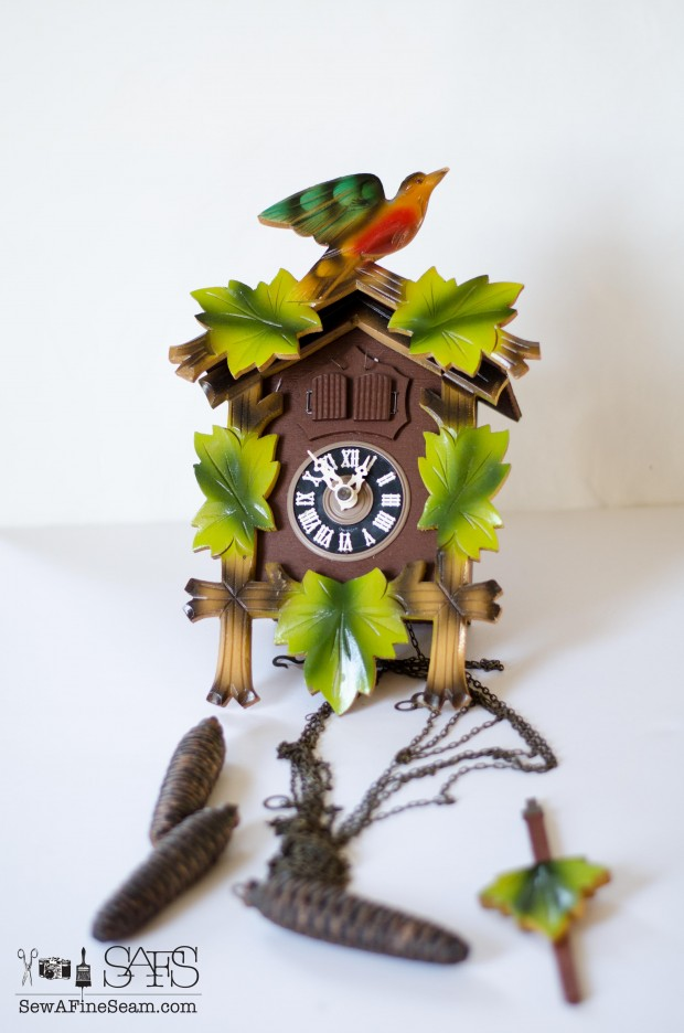 cuckoo clock before the makeover