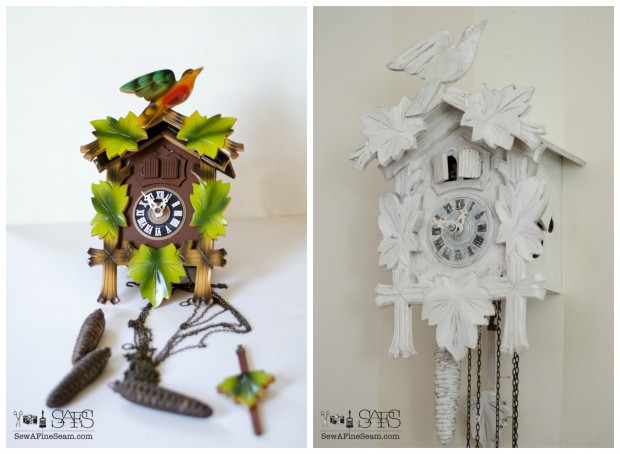 cuckoo clock makeover before and after