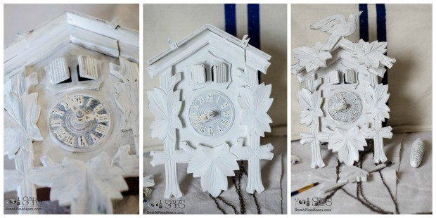 cuckoo clock makeover with paint process