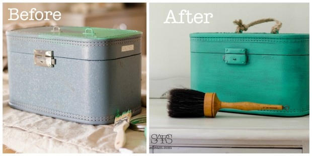 upcycled with paint the before and after