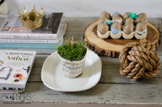 spring farmhouse decor coffee table