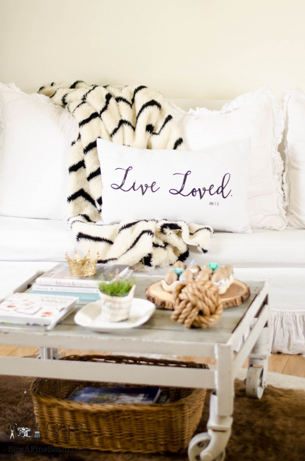 spring farmhouse decor lived loved pillow