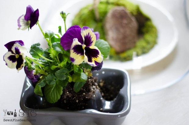 spring farmhouse decor spring pansies