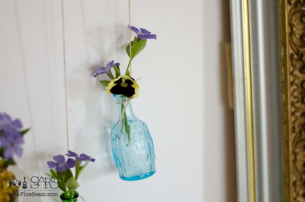 Flower Vases from vintage finds