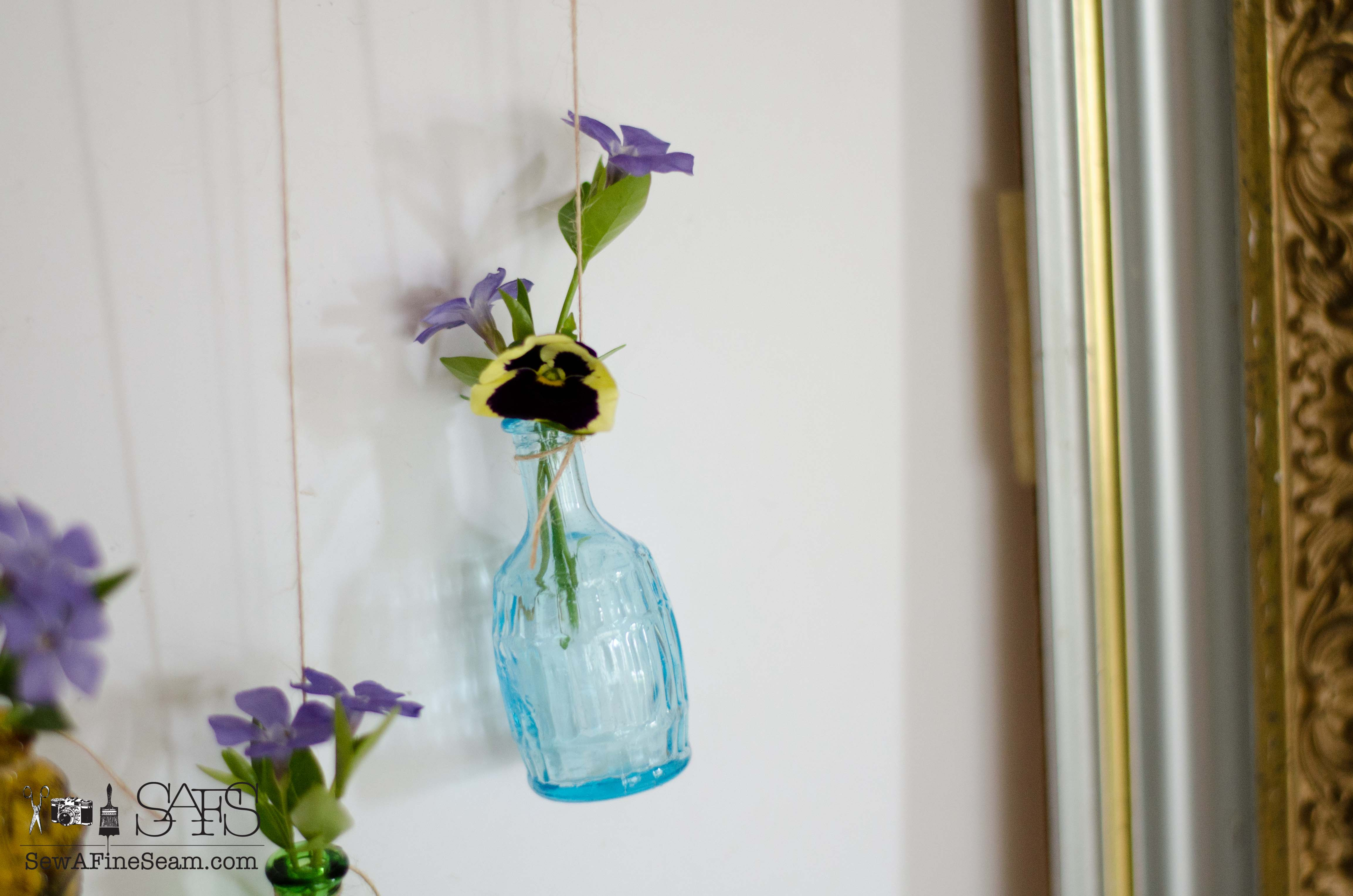 Flower vase made of tiny bottles sew a fine seam flower vases from vintage finds reviewsmspy