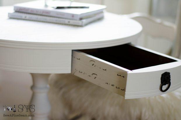 Morning Table drawer detail