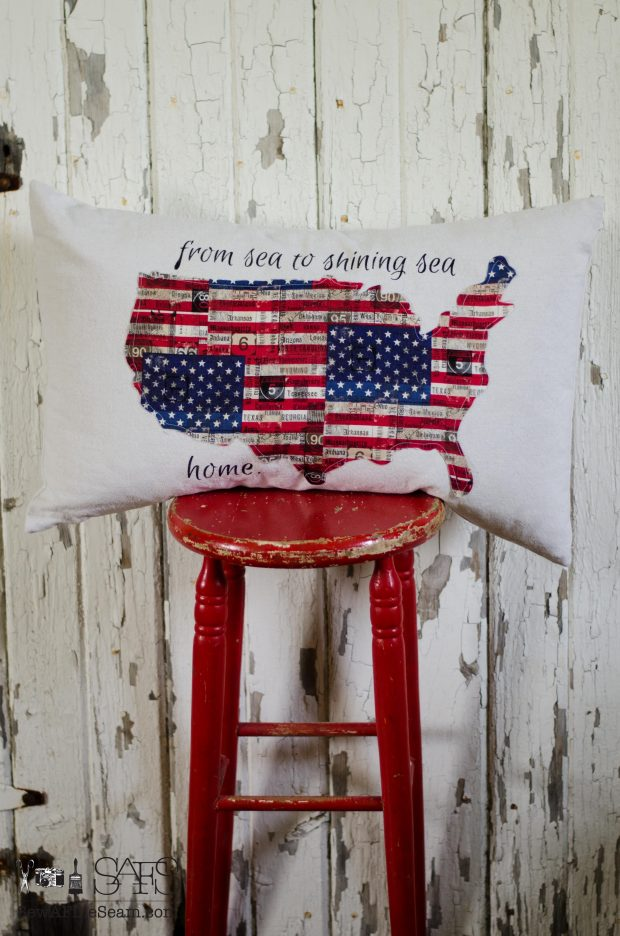 patriotic pillow flag fabric united states from sea to shining sea