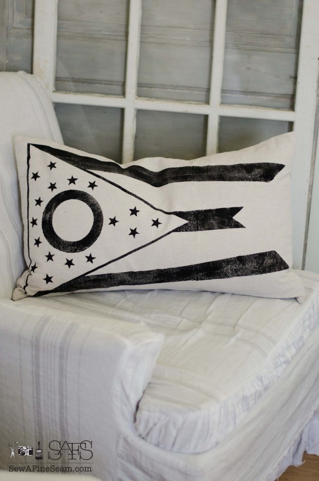 patriotic pillow ohio state flag