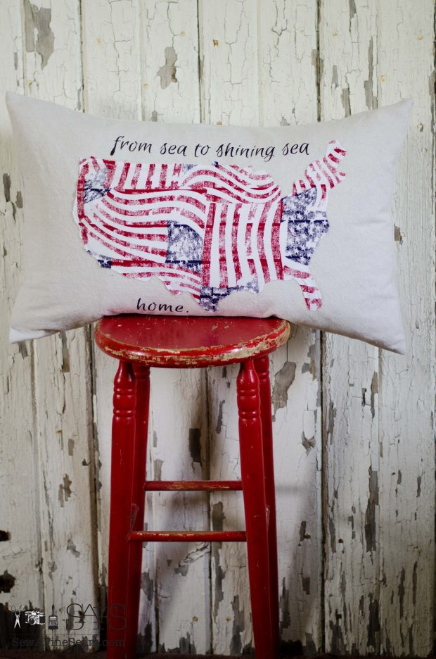patriotic pillows red white and blue united states sea to shining sea