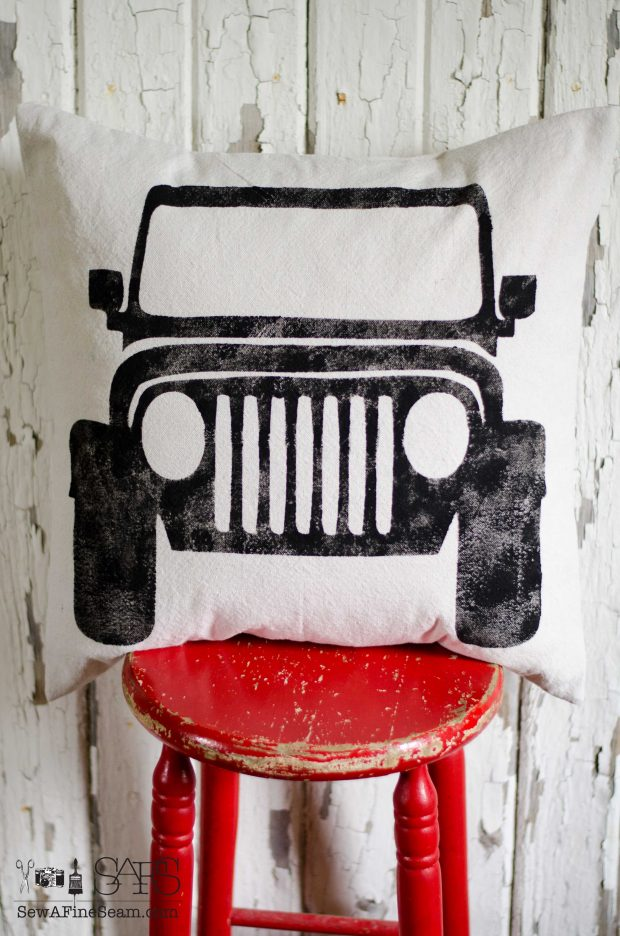 pillow black jeep