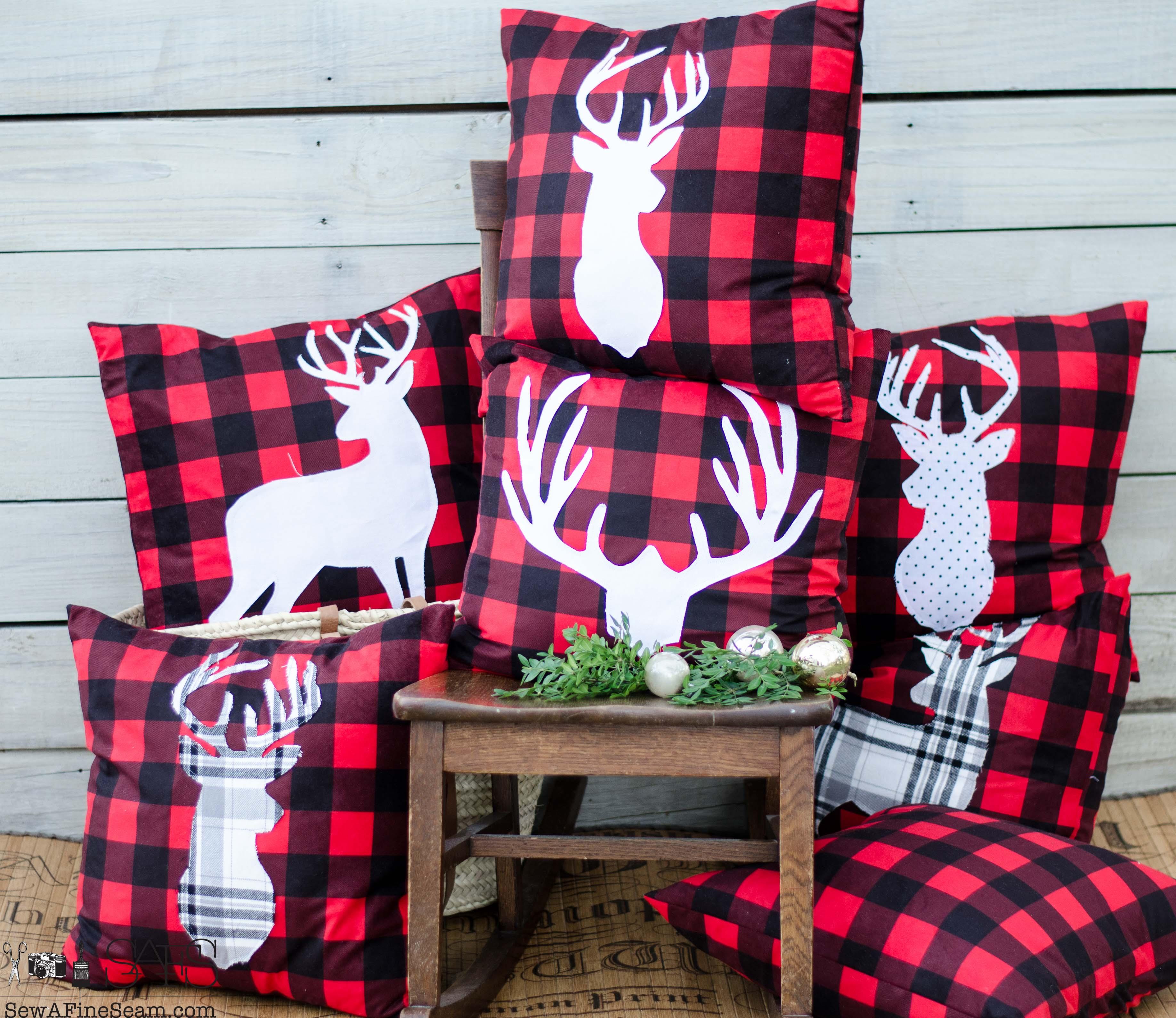 Plaid Christmas Pillows.Christmas Pillows Sew A Fine Seam